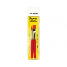 Da Vinci : Primo : Synthetic : Red handle : Set of 2