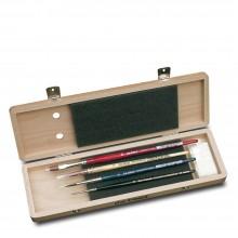 Da Vinci : Watercolour Brush : Lacquered Wooden Box Set of 5