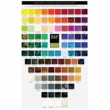 R & F : Encaustic (Wax Paint) : : Hand Painted Colour Chart