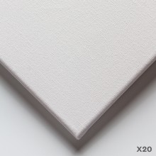 Studio Essentials : 18mm Basic Quality Cotton Stretched Canvas : 6x8in : Box of 20
