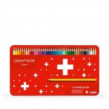 Caran d'Ache : Swisscolor : Watersoluble Pencil : Metal Tin Set of 40