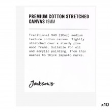 Jackson's : Box of 10 : Premium Cotton Canvas : 10oz 19mm Profile 8x10cm (Apx.3x4in)