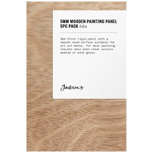 Jackson's : 5mm Wooden Painting Panel : 4x6in : Pack of 5