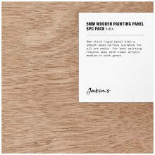 Jackson's : 5mm Wooden Painting Panel : 6x6in : Pack of 5