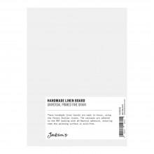 Jackson's : Handmade Board : Universal Primed Fine Linen CL535 on MDF Board : 13x18cm