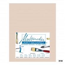 Multimedia Artboard : Pastel Artist Panel : 0.8 mm : 320 Grit : 10 Pack : 8x10in : Sandstone
