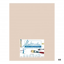 MULTIMEDIA ARTBOARD : PASTEL ARTIST PANEL : 0.8 MM : 320 GRIT : 5 PACK : 11X14IN : SANDSTONE