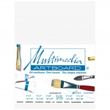 Multimedia Artboard : Pastel Artist Panel : Sample : 0.8 mm : 320 Grit : 6x8in : White : 1 Per Order