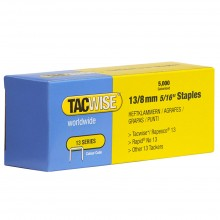 TACWISE : 13 SERIES STAPLES : 8MM : BOX OF 5000