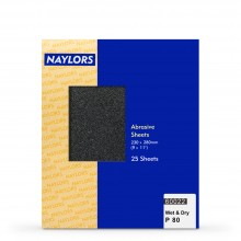 Naylor : 25 Sheets Wet & Dry Grade : 80