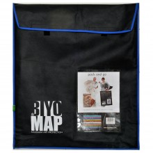 Biyomap : Reusable Artwork Shipping and Storage Bag : 60x70cm (Blue)