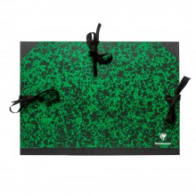 Clairefontaine : Green Marbled Folder with Ties : A3+ : 32x45cm