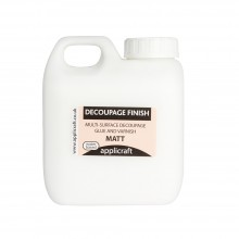 Applicraft : Decoupage Finish Glue Sealer and Varnish: Matte : Water Based : 500 ml