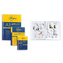 Mapac : A5 Artsafe Presenter : 20 Clear Sleeve Presentation Folders that hold up to 40 pages