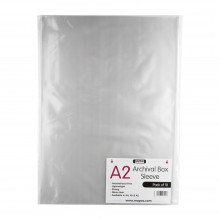 Mapac : Archival Box Sleeve : No Ring Binder Holes : A2 : Pack of 10 : Clear