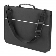 Mapac : Quartz Portfolio : A4 padded nylon : strong rings : shoulder strap