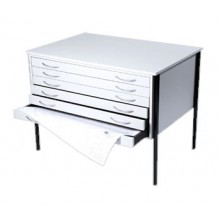 Vistaplan : Wooden Economy Planchest : 6 Drawer A0 available in Grey : Light Oak or Beech : UK Only