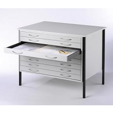 VISTAPLAN : WOODEN ECONOMY PLANCHEST : 8 DRAWER A0 AVAILABLE IN GREY : LIGHT OAK OR BEECH : UK ONLY