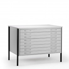 Vistaplan : Wooden Economy Planchest : 8 Drawer A0 : Grey : UK Only