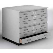 VISTAPLAN : WOODEN TRADITIONAL PLANCHEST : 6 DRAWER A1 AVAILABLE IN GREY : LIGHT OAK : UK ONLY