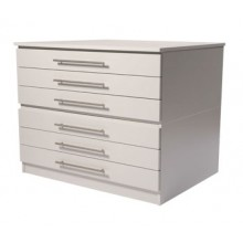 Vistaplan : Wooden Traditional Planchest : 6 Drawer A0 available in Grey : Light Oak : UK Only
