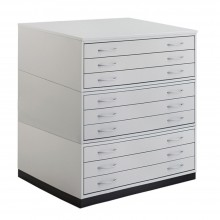 Vistaplan : Wooden Traditional Planchest : 9 Drawer A0 : Grey : UK Only