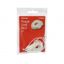 Hanging and Framing Hardware : 2m Picture Cord : White Nylon : Holds 10kg Max