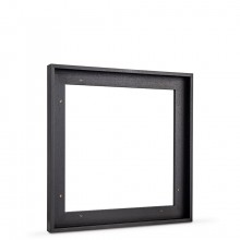 Jackson's : Black Tray (Float) Frame for Canvas 40x40cm : 23mm Rebate : 10mm Face