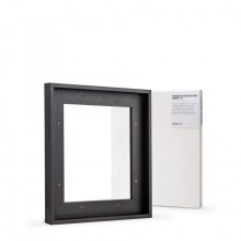 Jackson's : Ready Made Black Tray (Float) Frame and 25x30cm Canvas Set