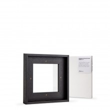 Jackson's : Ready Made Black Tray (Float) Frame and 20x20cm Canvas Set