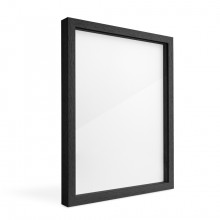 Jackson's : Black Ready-Made Ayous Wood Frame 16mm Spacer : 10x14in Artwork : 12x16in Frame Size