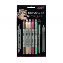 Copic : Ciao Marker : Manga Set 3 : Set of 5+1 Set