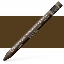 Caran d'Ache : Neocolor II : Watercolour Crayon : Raw Umber