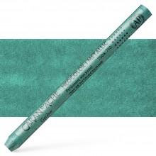 Caran d'Ache : Classic Neocolor I : Metallic Phtalo. Green