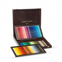Caran d'Ache : Pablo Coloured Pencil : Set of 120 : Wooden Case