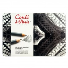 Conte A Paris : Graphite Pencil : Drawing Set of 12