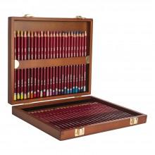 Derwent : Pastel Pencil : Wooden Box Set of 48