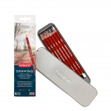 Derwent : Drawing Pencil : Tin Set of 6