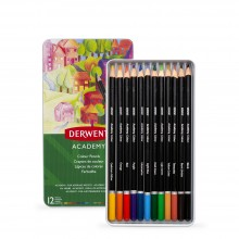 Derwent : Academy Colour : Tin Set of 12