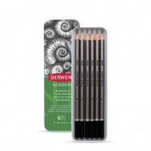Derwent : Academy Sketching : Tin Set of 6