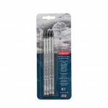 Derwent : Graphitone Watersoluble Graphite Pencil : Set of 4