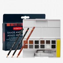 Derwent : Inktense Paint Pan : Shade & Tone Mixed Media Set of 12