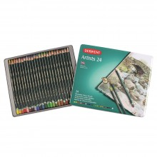 Derwent Artists 24 Coloured Pencil Set in Metal Tin