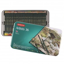 Derwent Artists 36 Coloured Pencil Set in Metal Tin