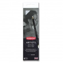 Derwent : Artists : Black & White Pencil : Metal Tin Set of 6