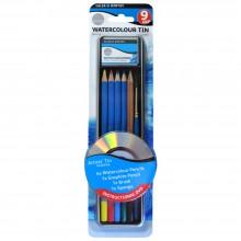 Daler-Rowney : Simply Pencil : Watercolour Tin Set : Set Of 9