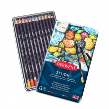 Derwent : Studio Pencil : Metal Tin Set of 12