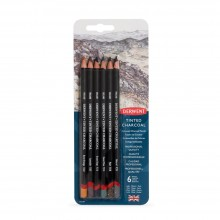 Derwent : Tinted Charcoal Pencil : Set of 6