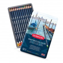 Derwent : Watercolour Pencil : Tin Set of 12