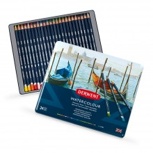 Derwent : Watercolour Pencil : Tin Set of 24
